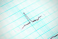 Heartbeat in motion ecg complex on special paper Royalty Free Stock Image