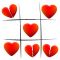 Heartbreak Love Hearts Tic Tac Toe