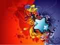 Hearth abstract art Stock Photos