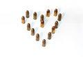 Hearth from ammo Royalty Free Stock Photo
