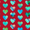 Hearts abstract grunge colorful splashes texture  green blue palette Royalty Free Stock Photo