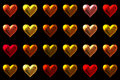 Hearts background colored valentines love Stock Photo