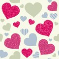 Hearts background colorful seamless texture love and valentines day design Royalty Free Stock Photos