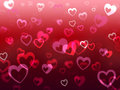 Hearts background means love adore and friendship meaning Royalty Free Stock Image