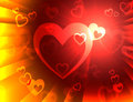 Hearts background means valentines wallpaper or romanticism meaning Royalty Free Stock Photography