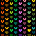 Hearts background sample valentines day pattern vector seamless Stock Photography