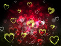 Hearts background shows romantic adoring and fond showing Royalty Free Stock Image