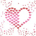 Valentines Day background hearts isolated on white