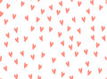 Hearts background vector pattern. Doodle pink scribble. Symbol of love red texture seamless