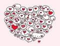 Hearts balloon Stock Image