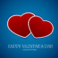 Hearts on blue background Royalty Free Stock Photos
