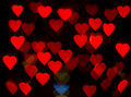 Hearts bokeh Royalty Free Stock Images