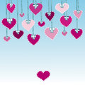 Hearts with bows Stock Photos