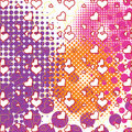 Hearts and bubbles pattern Royalty Free Stock Images