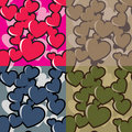 Hearts camo Royalty Free Stock Images