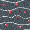 Hearts-and-chains-pattern Royalty Free Stock Photo