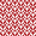 Hearts In Circles_Red-White Royalty Free Stock Image