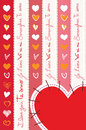 Hearts coeurs corazones a composition of different with i love you in different languages Royalty Free Stock Image