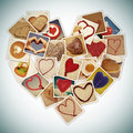 Hearts collage on a white background Royalty Free Stock Image