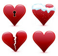 Hearts collection Stock Images