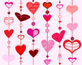 Hearts collection Royalty Free Stock Photos