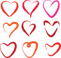 Hearts collection Stock Photo