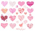 Hearts collection Royalty Free Stock Photo