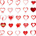Hearts collection, logo, button Royalty Free Stock Photo