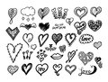 Hearts collection. Royalty Free Stock Photo