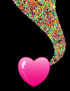 Hearts and colorful circles Royalty Free Stock Photography