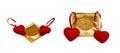 Hearts and condoms Royalty Free Stock Photo