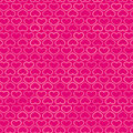 Hearts contour pattern in shades of pink vector Royalty Free Stock Images