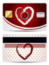 Hearts credit card design Stock Image