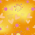 Hearts floral seamless pattern wallpaper Royalty Free Stock Photography