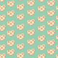 Hearts in a floret heart seamless pattern Royalty Free Stock Photos
