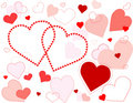 Hearts Galore Background Royalty Free Stock Photos