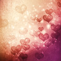 Hearts on grunge pink magenta gradient background Royalty Free Stock Photography
