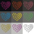 Hearts heart collected from small in different colors Royalty Free Stock Photo