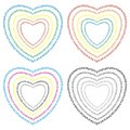 Hearts heart collected from small vector format Stock Image