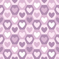 Hearts and hexagons seamless vector pattern