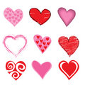 Hearts icon set Stock Photos