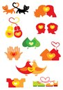 Hearts icons Royalty Free Stock Images