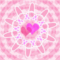 Hearts illustration of background as symbol of love Royalty Free Stock Photography