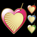 Hearts labels Stock Image