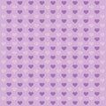 Hearts lilac pattern.