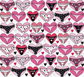 Hearts with lingerie valentines day background Royalty Free Stock Images