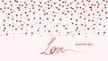 Hearts Love - Valentine`s Day Background - Illustration - Vector