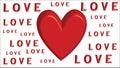 Hearts Love - Valentine`s Day - Illustration - Vector