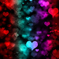Hearts of Many Colors Royalty Free Stock Photos