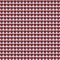 Hearts metal wrapped with red cord collage Royalty Free Stock Photography